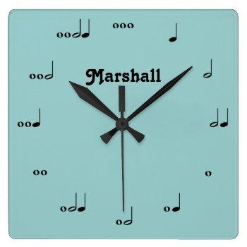 Personalized Original Music Note Clock by MarshallArtsInk at Zazzle