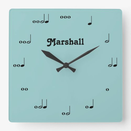 Personalized Original Music Note Clock
