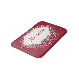 Personalized Ornate Frame Bath Mat