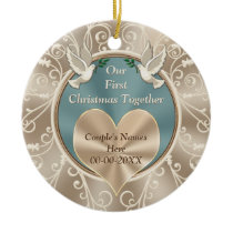 Personalized Our First Christmas Together Ceramic Ornament