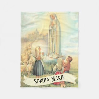 Personalized Our Lady of Fatima Fleece Blanket