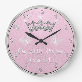 Personalized Our Little Princess Clock, Pink Clock