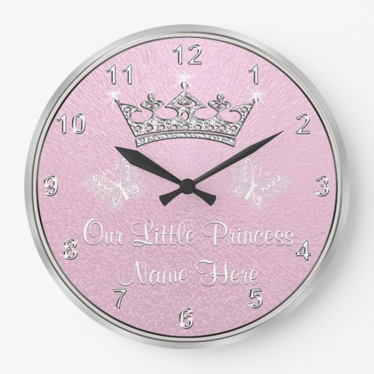 Personalized Our Little Princess Clock Pink Clock
