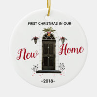 Personalized Our New Home Christmas ornament
