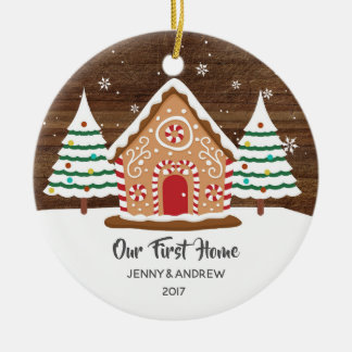 Personalized Our New Home Gingerbread Ornament