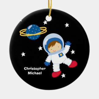 Personalized outer space astronaut boy's ornament