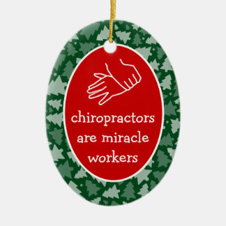 Personalized Oval Chiropractor Ornament