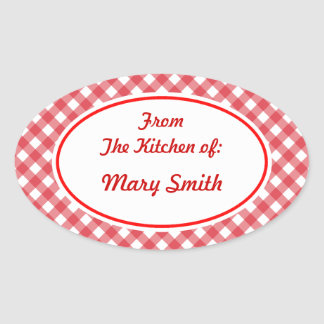 Personalized Oval Kitchen Stickers
