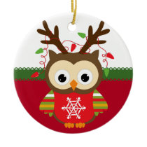 Personalized Owl Christmas Ornament