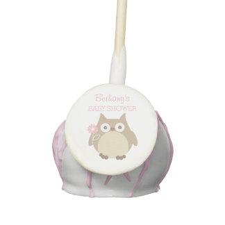 Personalized Owl Girl Baby Shower Favors