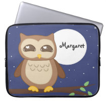 Personalized Owl in Tree Laptop Sleeve