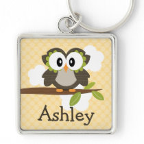 Personalized Owl Keychain Keyring
