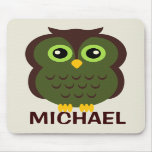 Personalized Owl Mousepad for Kids