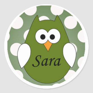 Personalized Owl Stickers