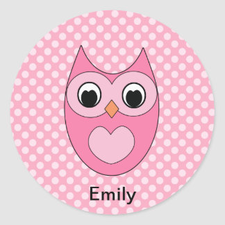 Personalized Owl Stickers for Kids