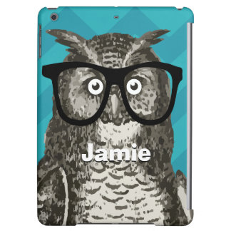 Personalized Owl with Nerdy Glasses iPad Air Case