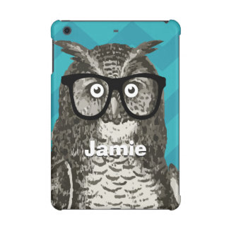 Personalized Owl with Nerdy Glasses iPad Mini Retina Cover