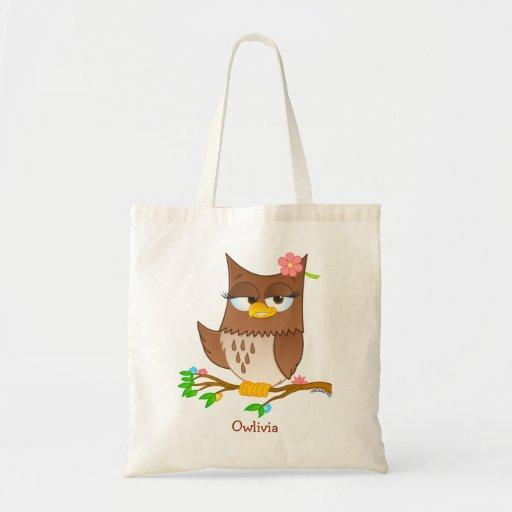Personalized Owlivia Tote Bag