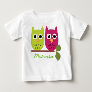 Personalized Owls Baby T-Shirt