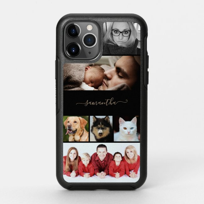 Personalized own  Photo 6 image Collage OtterBox iPhone Case