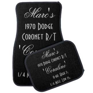 Personalized Owner And Car Names With Time Specs Car Mat