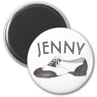 Personalized Oxford Tap Shoe Dance Teacher Tapper Magnet