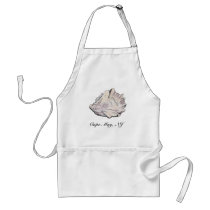 Personalized Oyster Watercolor Adult Apron
