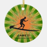 Personalized Paddleboarding Ornament