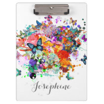 Personalized Paint splash Butterflies clipboard