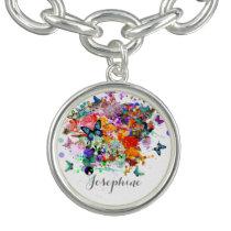 Personalized Paint splash Butterflies Pop Art Bracelet