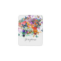 Personalized Paint splash Butterflies Pop Art Business Card Holder