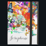 """Personalized Paint splash Butterflies Pop Art Cover For iPad Air<br><div class=""""desc"""">Personalized Paint splash Butterflies Pop Art design ,  customize it with your name or message to make a beautiful keepsake for yourself or gift giving.</div>"""