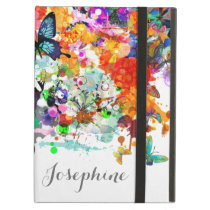 Personalized Paint splash Butterflies Pop Art Cover For iPad Air