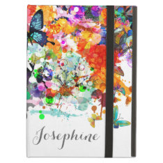 Personalized Paint Splash Butterflies Pop Art Cover For Ipad Air at Zazzle