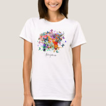 Personalized Paint splash Butterflies Pop Art T-Shirt