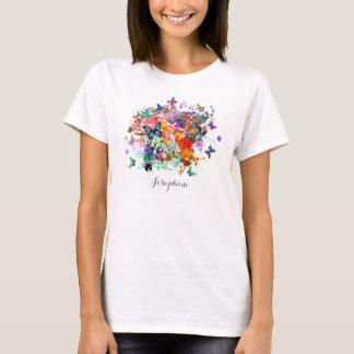 Personalized Paint splash Butterflies Pop Art T-Shirt