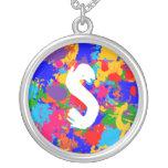 Personalized Paint Splatter Pendants