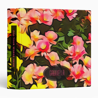 Personalized: Painted Fall Flower Binder