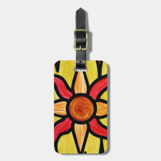 Personalized Painted  Sun Luggage Tag