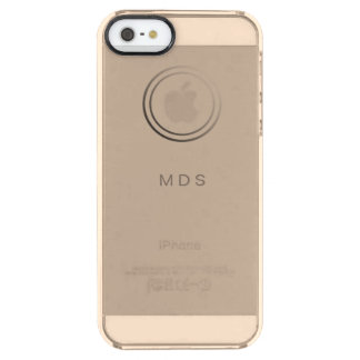 Personalized Pale Gold iPhone 5 SE Clear Case