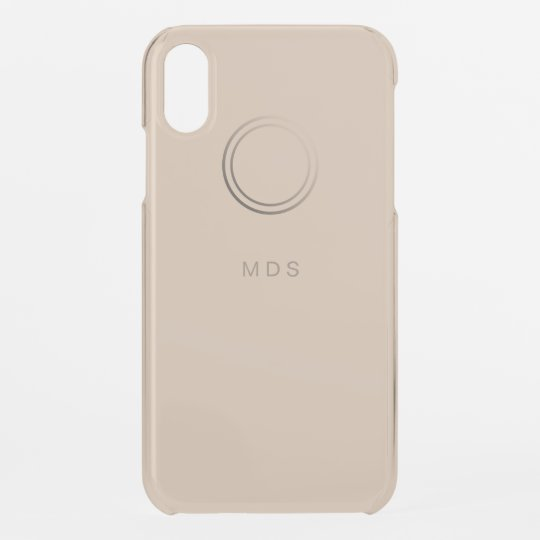 Personalized Pale Gold Iphone Xr Case