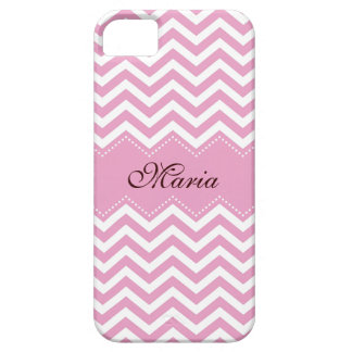 Personalized pale pink chevron pattern case