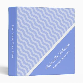 Personalized: Pale Purple Waves Avery Binder