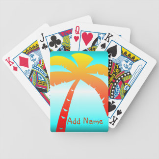 Personalized Palm Tree Deck Of Cards