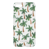 Personalized Palm Tree Print iPhone 7 Case
