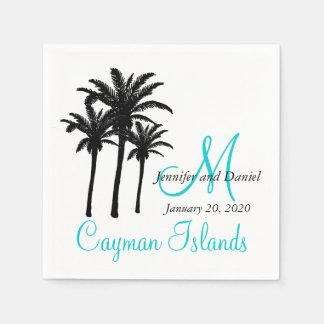 Personalized Palm Trees Beach Wedding Paper Napkin