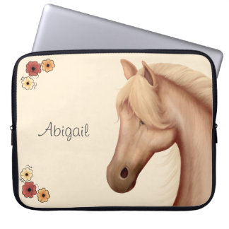 Personalized Palomino Horse Laptop Sleeve
