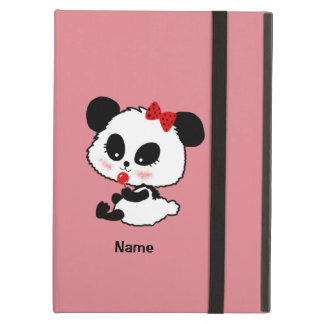 Personalized Panda bear baby girl so kawaii iPad Air Case