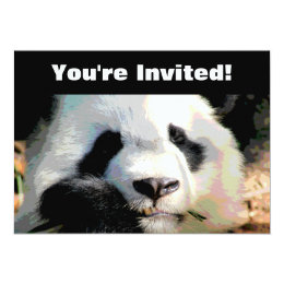 Personalized | Panda Bear Birthday Party Card