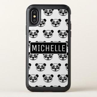 Personalized Panda Bear Head Speck iPhone X Case